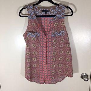 Sanctuary sleeveless blouse size L